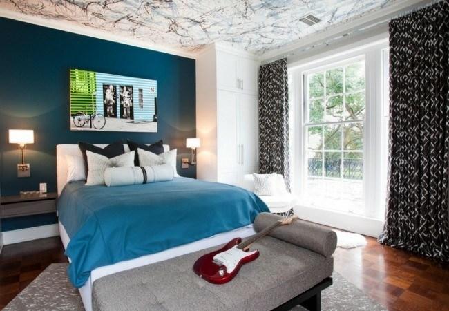 pared dormitorio color azul