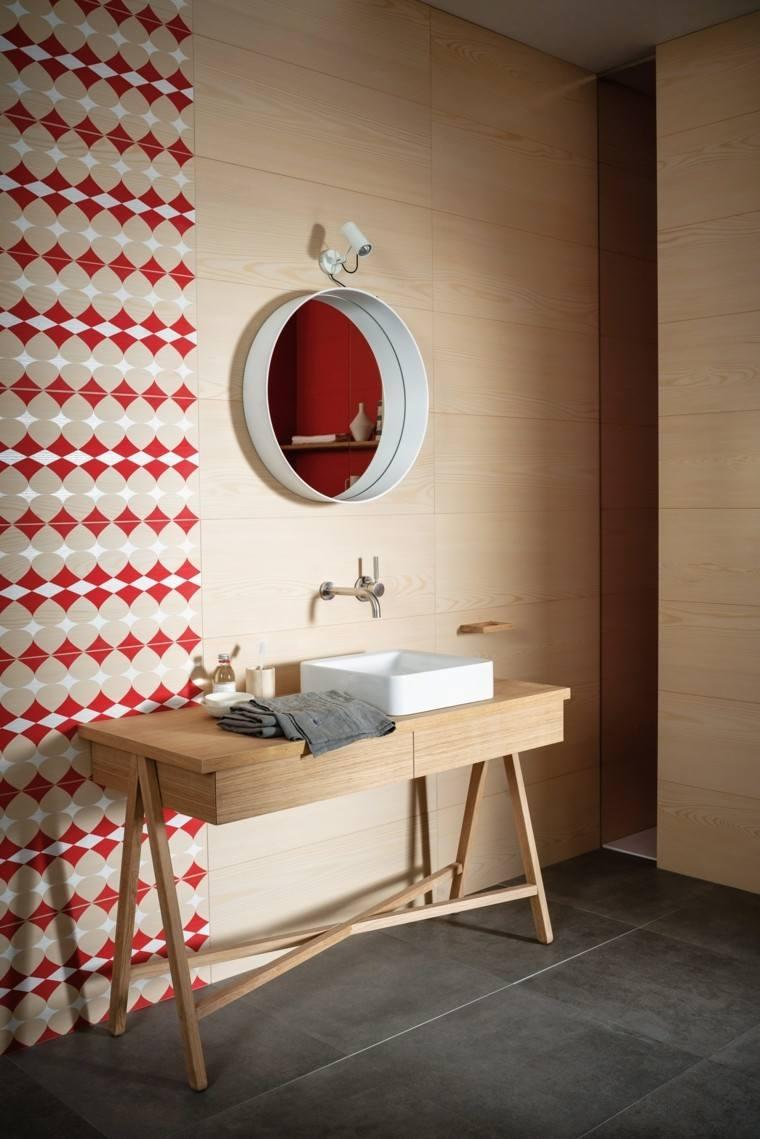 pared azulejos imitan madera color claro ideas