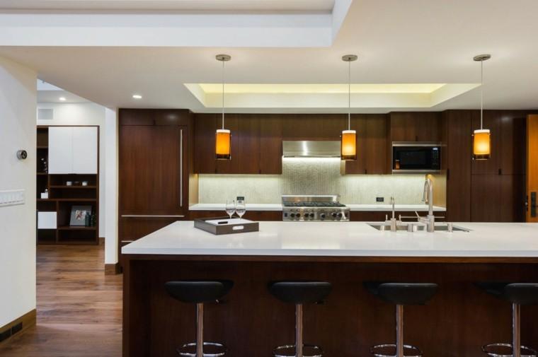 pared cocina moderna imita caida agua ideas
