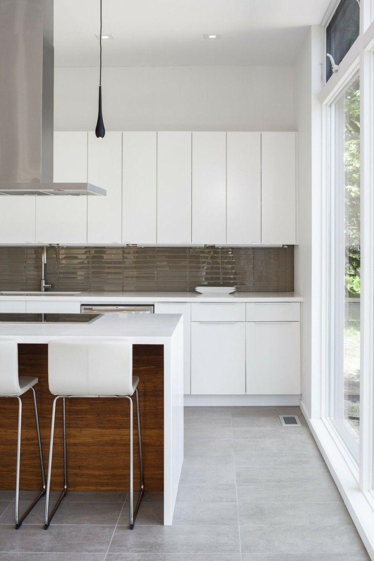 Panel de cocina 50 ideas para la pared de la cocina - Losas para cocina ...