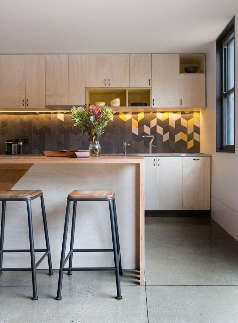 Panel de cocina 50 ideas para la pared de la cocina for Cocina en la cocina