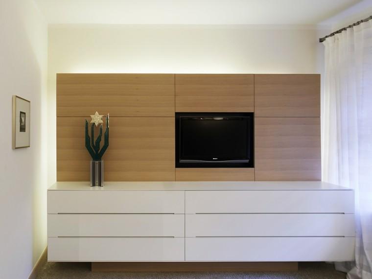 pared imita madera losas preciosas televisor ideas