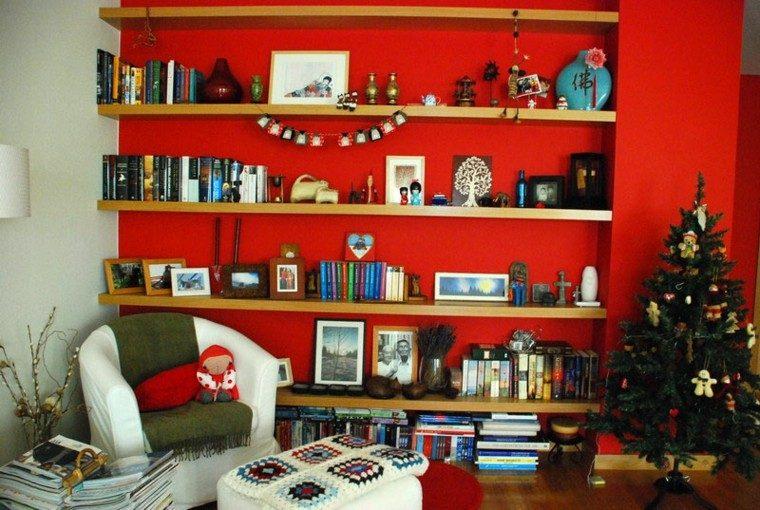 pared roja estilo rojo verde