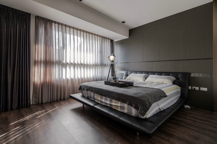 Dormitorios de matrimonio de colores oscuros - 50 ideas