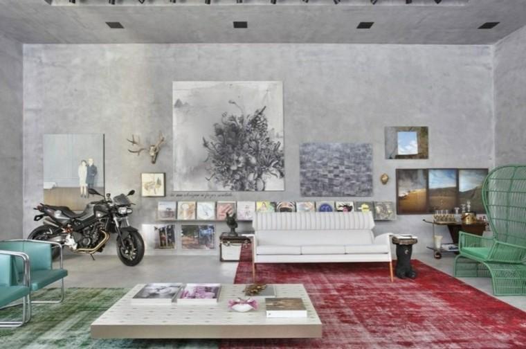 paredes cemento muebles colores frios