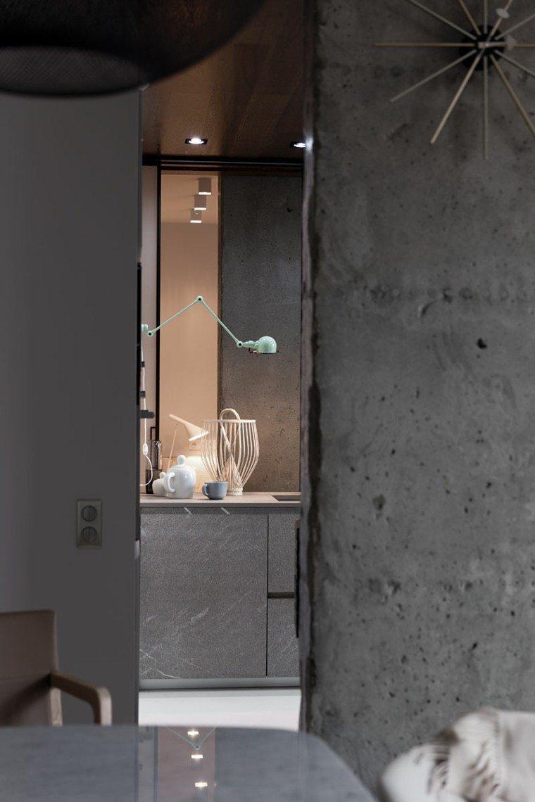 paredes cemento sin puilir gris