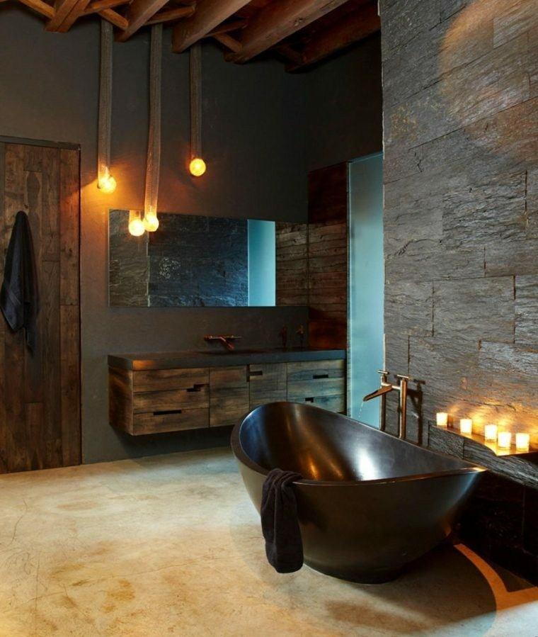paredes cuarto baño moderno gris