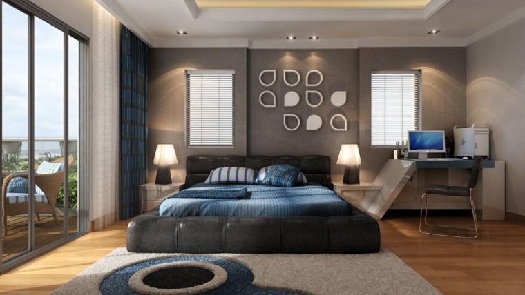 Habitaciones de matrimonio decorando tu oasis de intimidad - Decoracion paredes grises ...