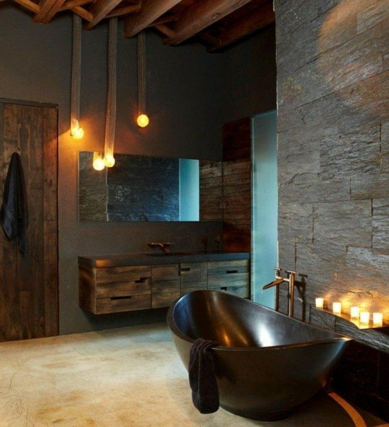 paredes lajas decoracion bombillas velas
