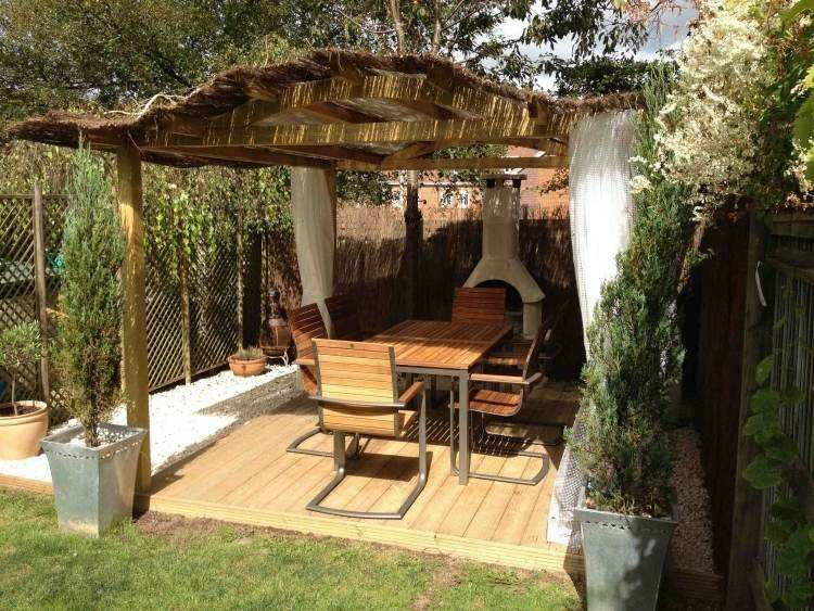 wooden pergola rounded roof