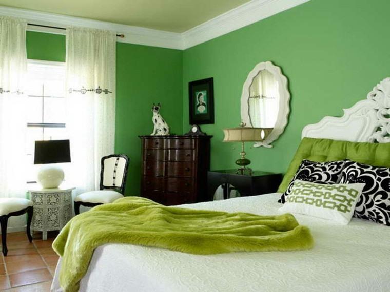 perro verde lamparas casa espejo