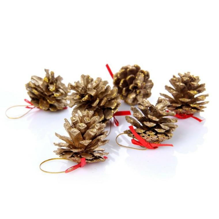 Manualidades para navidad cincuenta ideas originales - Pinas decoradas para navidad ...