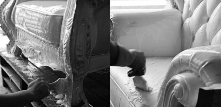 pasos pintar sillon cemento hormigon