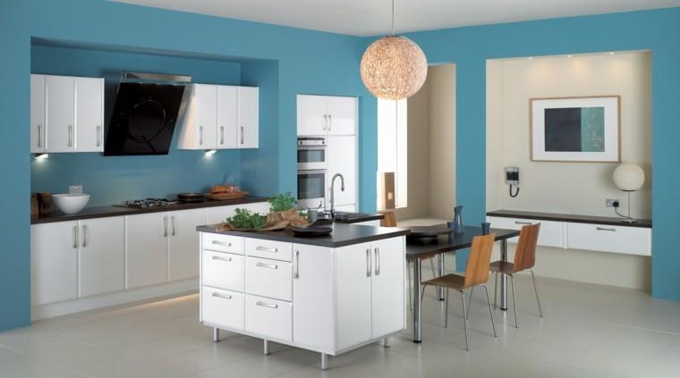 pintura cocina color azul