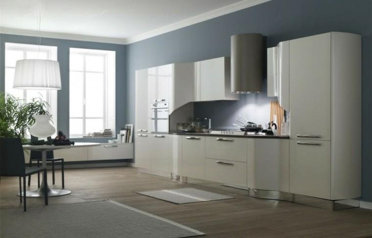 Cocinas pintadas con los colores de moda 50 ideas - Pinturas rusticas para interiores ...