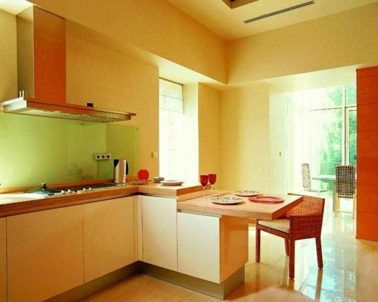 pintura cocina color amarillo intenso