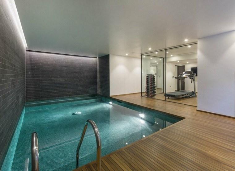 piscina madera decoraion metales casa escalera
