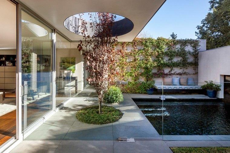 pisicna casa moderna jardin arbol decorativo ideas