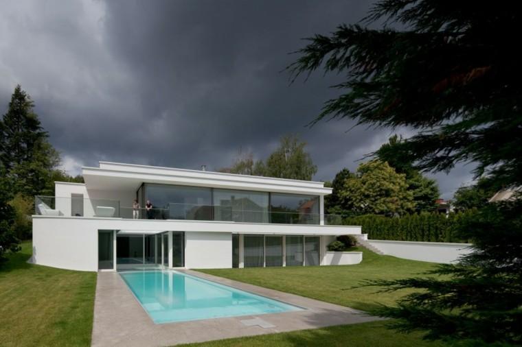 pisicna casa moderna jardin estilo minmalista ideas