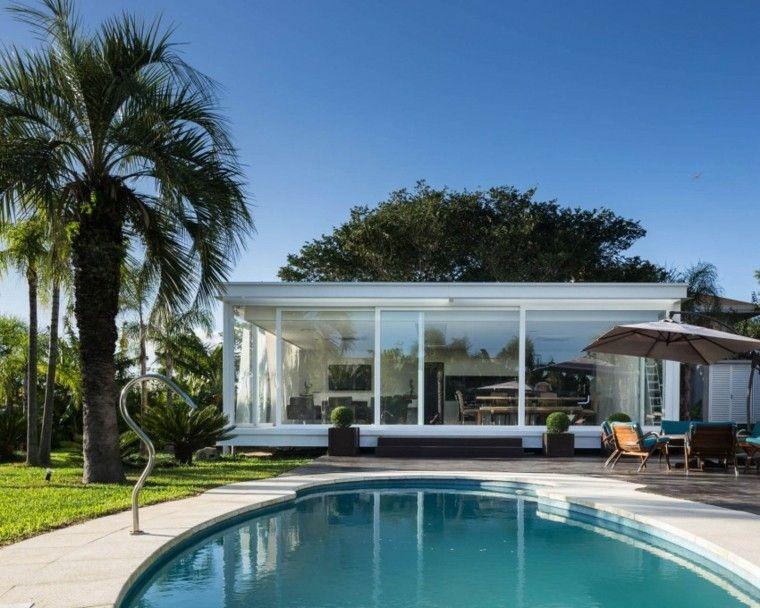 pisicna casa moderna jardin forma ovalada ideas