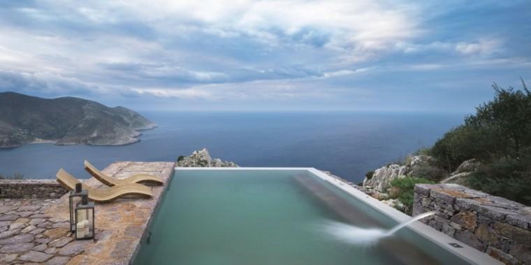 pisicna casa moderna jardin fuente agua ideas