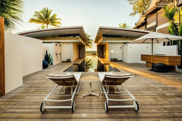 pisicna casa moderna jardin isla madera sombrilla ideas