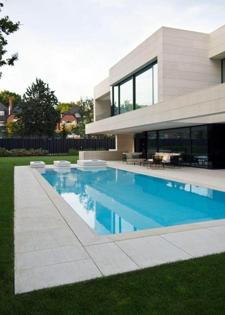 Oasis moderno 100 ideas para refugios en el jard n for Casas con jardin y piscina