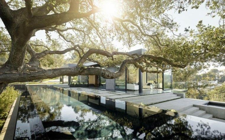 pisicna casa moderna jardin terraza losas ideas