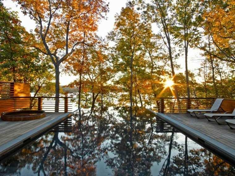 pisicna casa moderna jardin tumbonas vistas terraza ideas