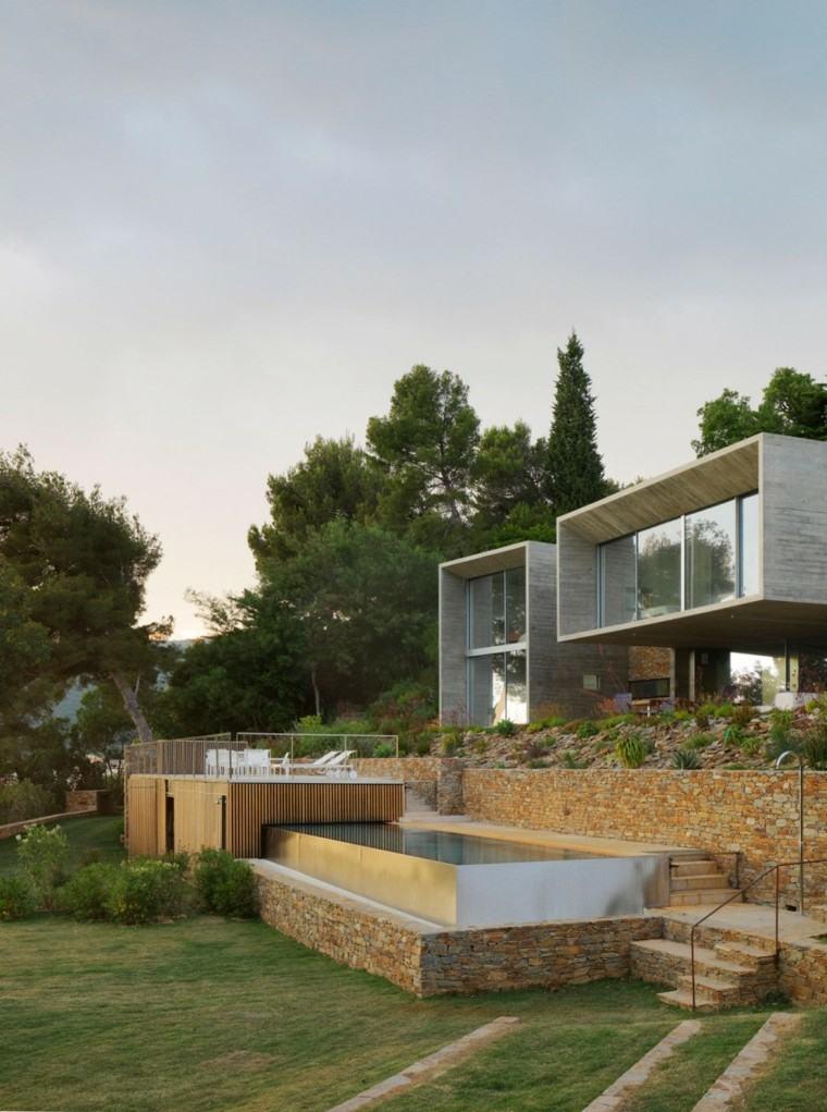 pisicna casa moderna terraza dos niveles pequena ideas