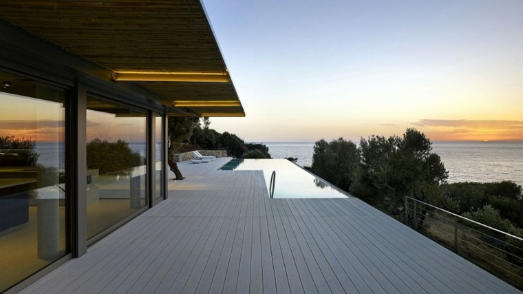 pisicna casa moderna terraza madera vistas ideas