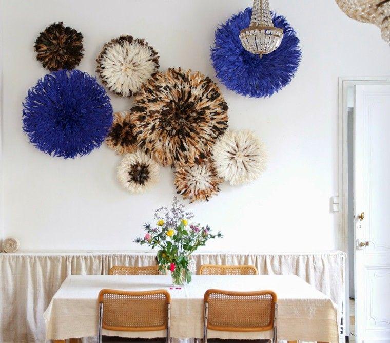 plumas decorativas circulos colores