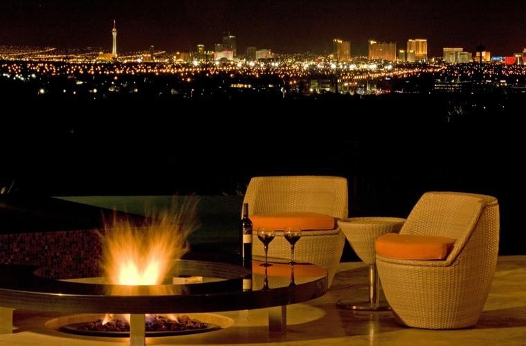 pozo fuego moderno sillones vistas preciosa ideas