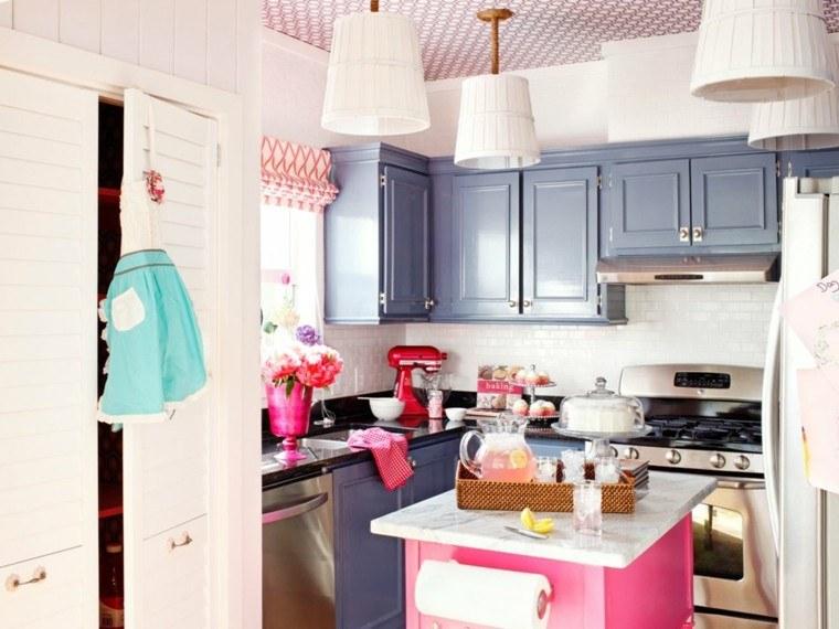 proyecto cocina clasica preciosa isla pequena rosa ideas