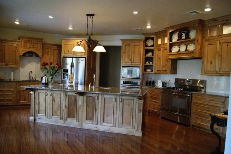 proyecto cocina clasica preciosa madera amplia ideas