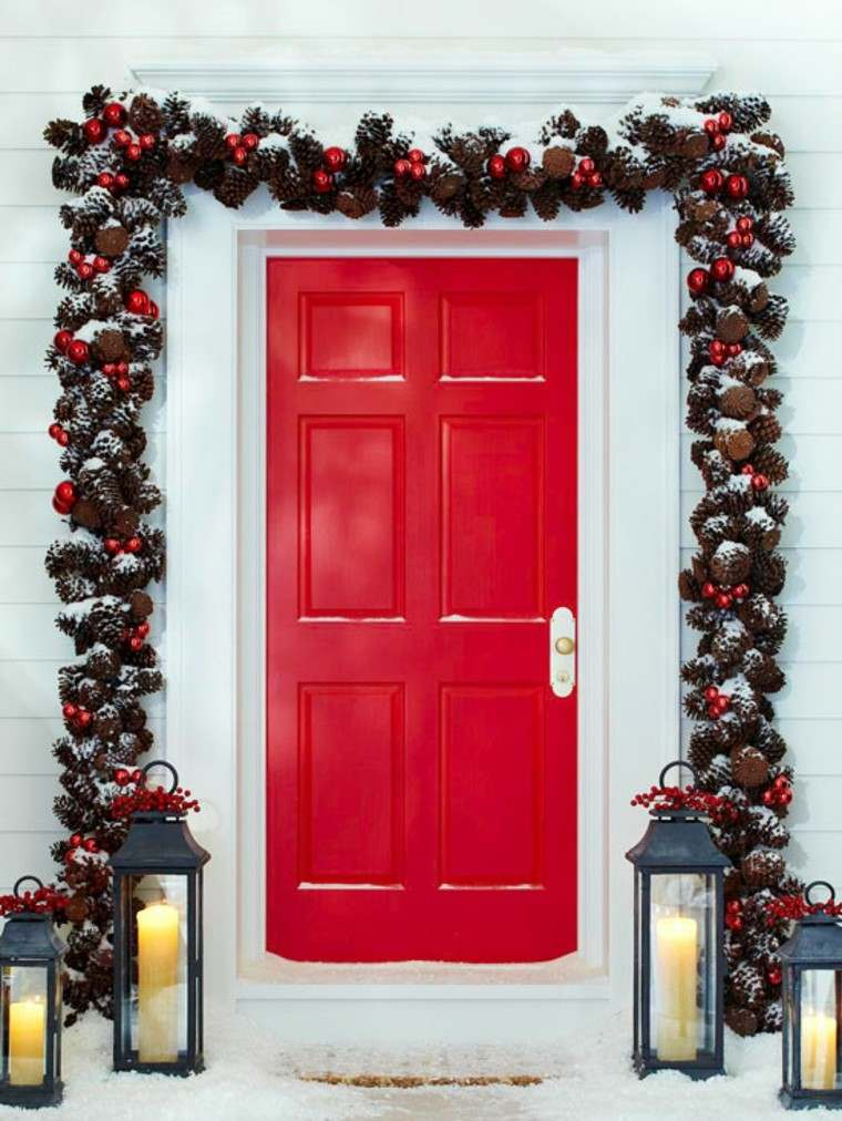 puerta impactante estilo faroles metal