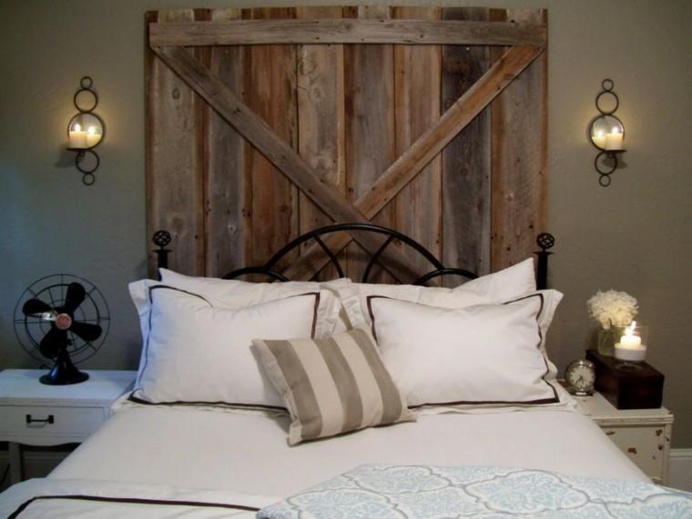puerta madera original cabecero retro