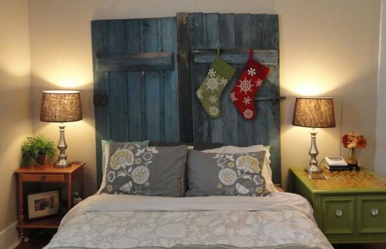 puertas azules madera cabeceros caba