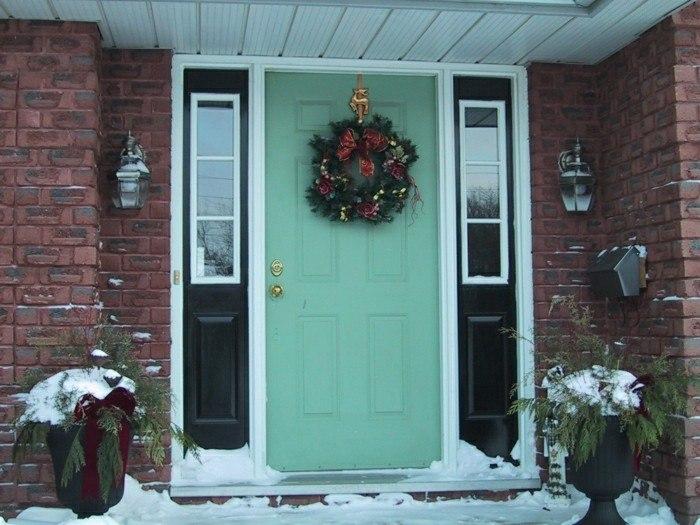 puertas de entrada color aguamarina