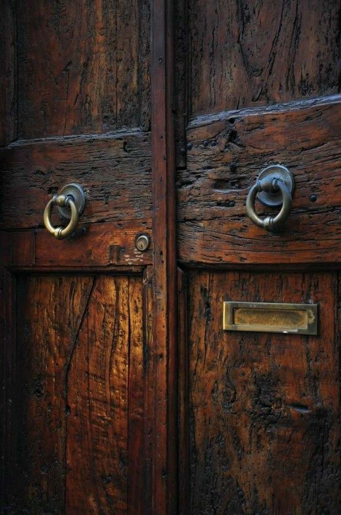 puertas de entrada madera maciza