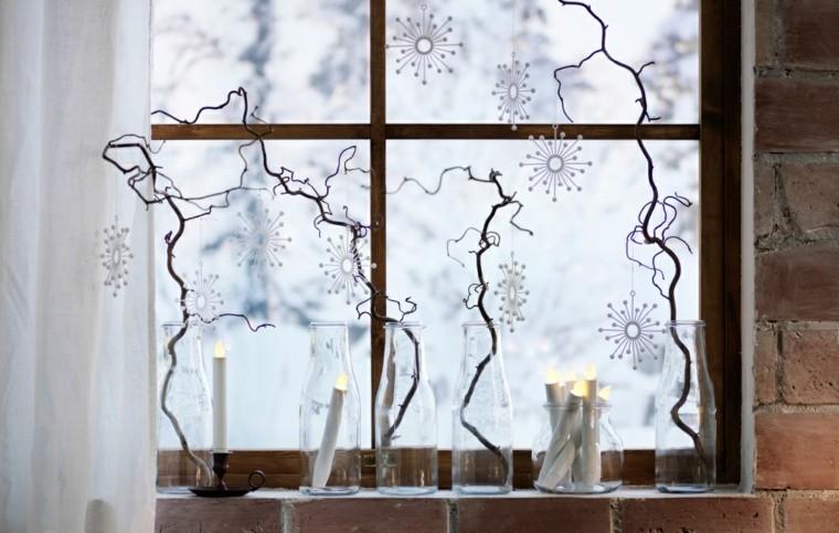 ramas velas espejos natural diy