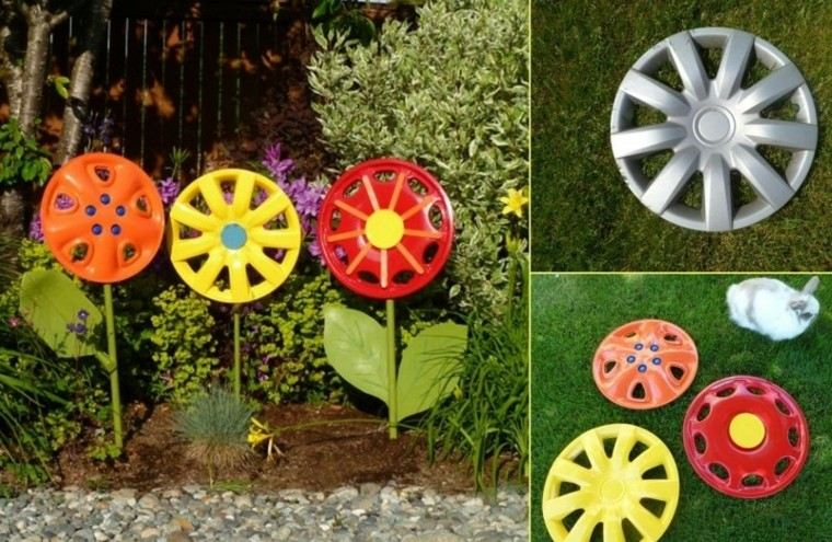 Reciclaje creativo 50 ideas geniales para un patio diferente - Jardineras con ruedas ...