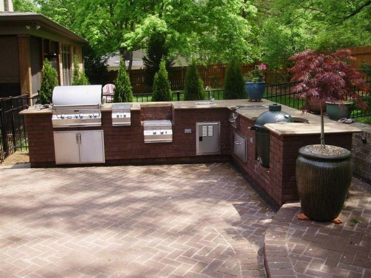 refugio perfecto verano cocina exterior ladrillo ideas