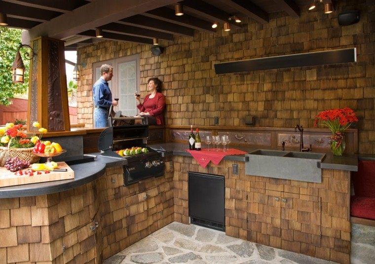 refugio perfecto verano cocina exterior originalidad madera ideas