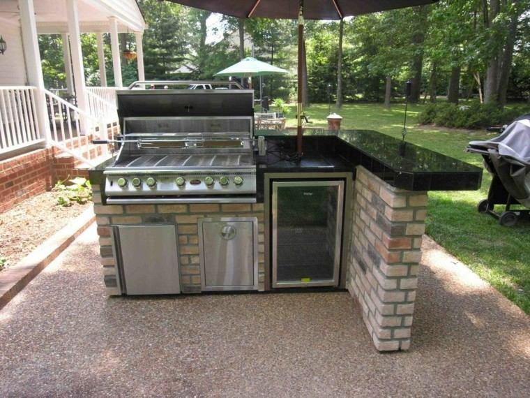 refugio perfecto verano cocina exterior pequena barra ideas
