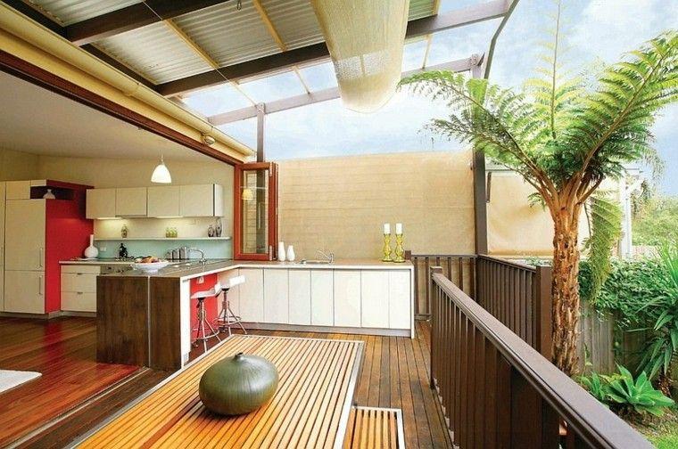 refugio perfecto verano cocina exterior terraza barra ideas