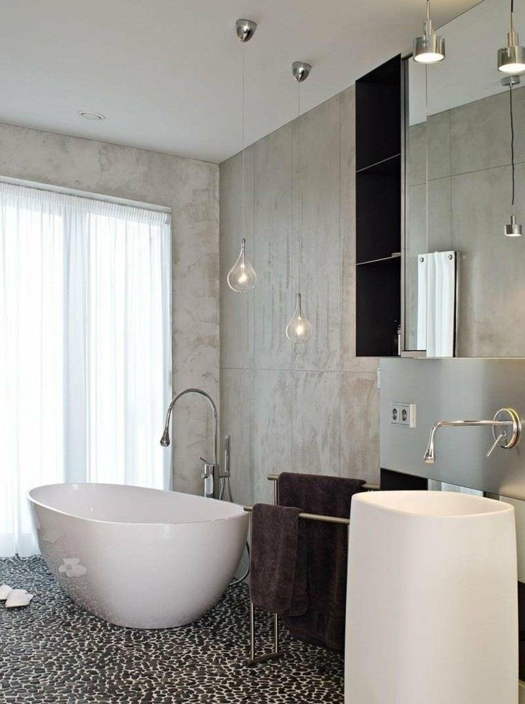 revestimiento baño paneles cemento piedra