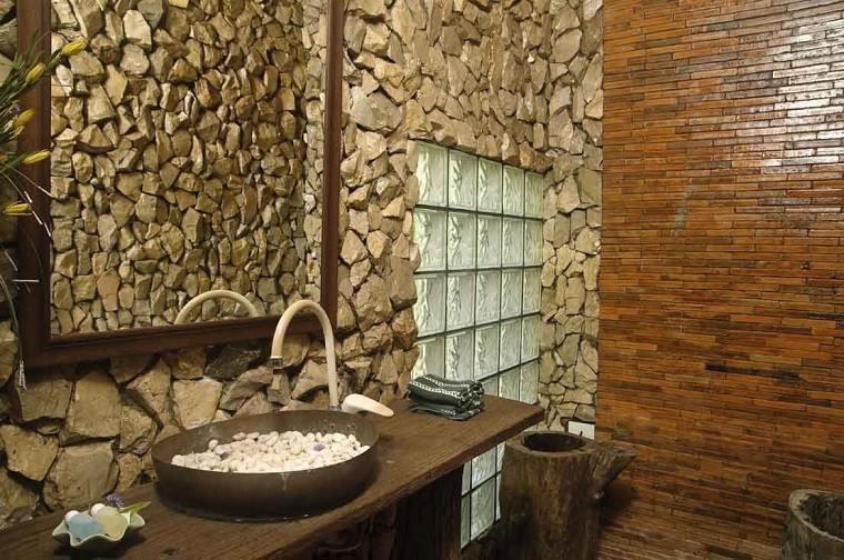 baños rusticos diseño diseño rocas