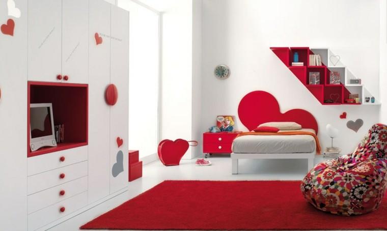 rojo blanco infantil alfombra estantes