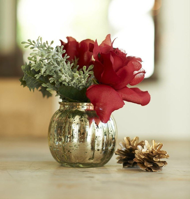 rojo flores colores conos centro